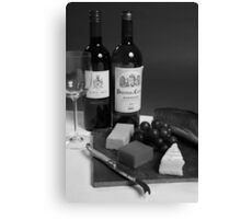 Perfect Lunch - Black And White Canvas Print