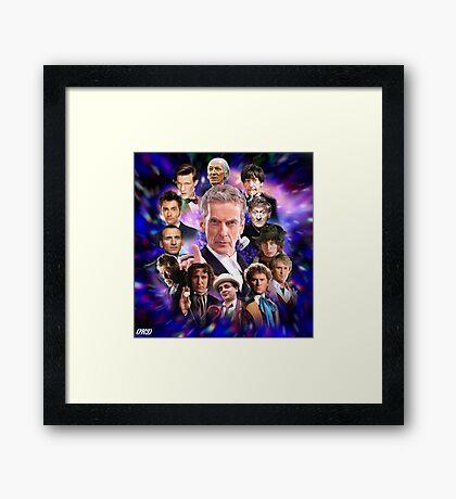 Doctor Who - Thirteen Doctors Framed Print