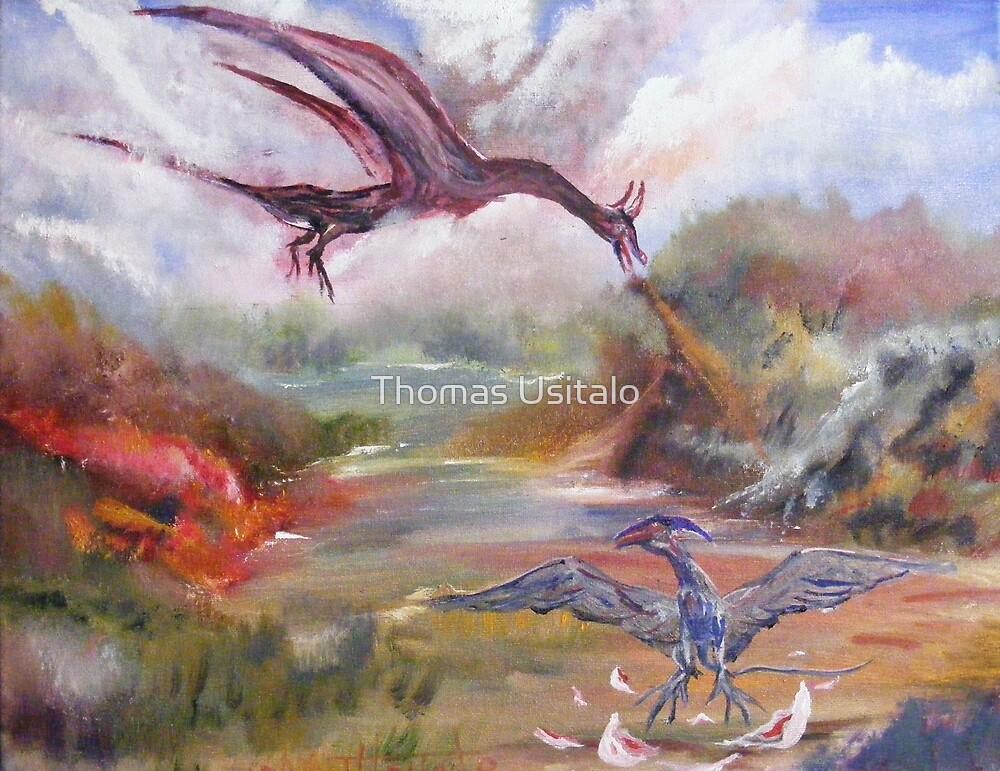 Dragon Dinnertime by tusitalo