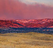 Dawn Rising Above Boulder by John  De Bord Photography