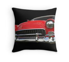 Red old chevy car Throw Pillow