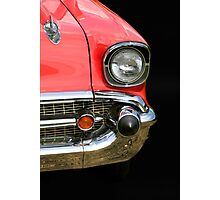 Red Chevy Car Photographic Print