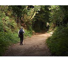 Lone walker Photographic Print