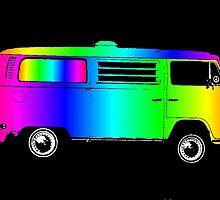 Psychodelic VW Van by vvfineartphotog