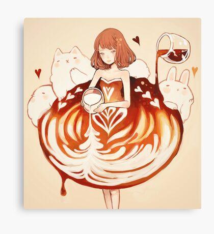 a caffè latte dress. Canvas Print