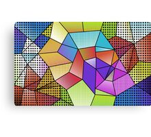 Pop Cubism Canvas Print