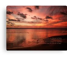 Sunset Religous Photo I Canvas Print