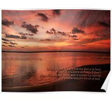 Sunset Religous Photo I Poster
