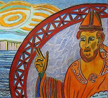 316 - ST. CUTHBERT (detail) - DAVE EDWARDS - COLOURED PENCILS - 2011 by BLYTHART