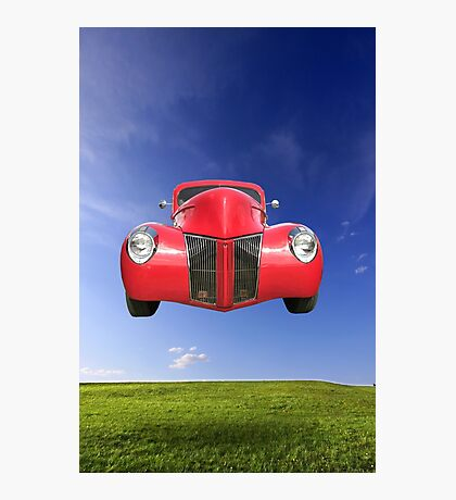 Flying Car Photographic Print