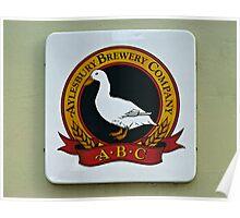 Aylesbury Brewery sign, UK. Poster