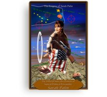 The Enigma of Sarah Palin Canvas Print