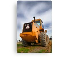 Construction Equipment Canvas Print