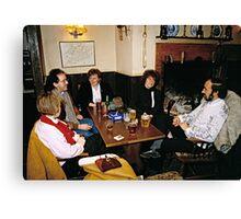 Cosy pub scene, England, 1980s. Canvas Print