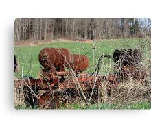 Used, old but not forgotten farm equipment Canvas Print