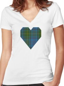 00321 Donegal County Tartan Women's Fitted V-Neck T-Shirt