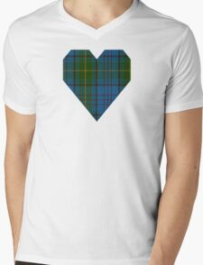 00321 Donegal County Tartan Mens V-Neck T-Shirt