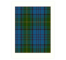 00321 Donegal County Tartan Art Print