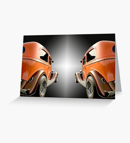 Two Classic Cars Greeting Card