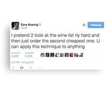 Ezra Koenig Tweets Canvas Print