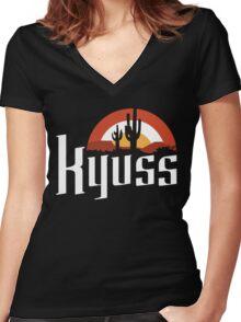 KYUSS Women's Fitted V-Neck T-Shirt