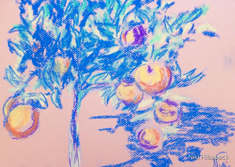 Lil' Orange Tree (pastel) by Niki Hilsabeck