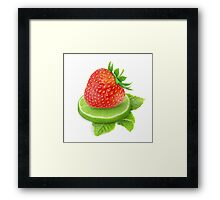 Strawberry, lime and mint Framed Print