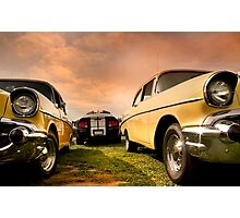 Two Muscle Cars Photographic Print