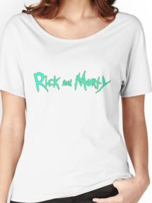 Rick and Morty Logo Women's Relaxed Fit T-Shirt