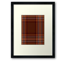 00324 Down County (District) Tartan  Framed Print