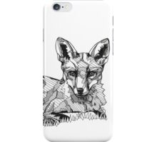 Fox Black Tonal Fineliner Drawing iPhone Case/Skin