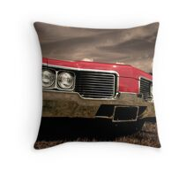 Red Car In Motion Throw Pillow