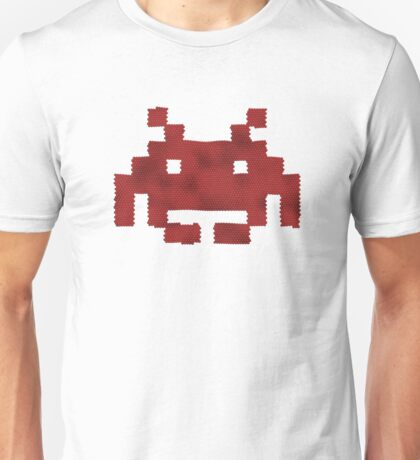 Scaled Invader in red Unisex T-Shirt