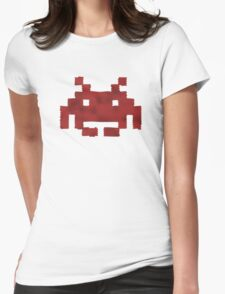 Scaled Invader in red Womens Fitted T-Shirt