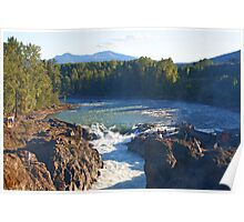 Late Summer at Moricetown Falls Poster