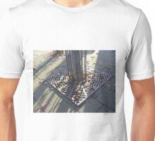 Autumn Carousel (leaves in radial grille, Burntisland) Unisex T-Shirt