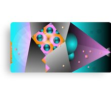 Pastel Metal Canvas Print