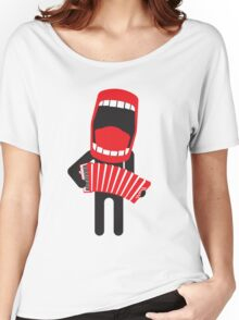 loud singing accordion player Women's Relaxed Fit T-Shirt