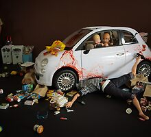 I thought I told you, let her finish unpacking the food and THEN run her over... by Sniperphotog
