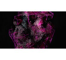 Abstract Crystal - CG Render Photographic Print