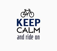 Keep Calm And Ride On (blue) Unisex T-Shirt