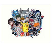 Team Anime Art Print