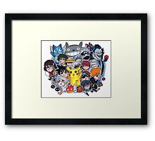 Team Anime Framed Print