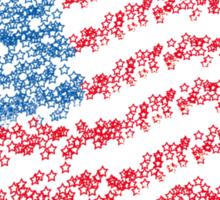 American star flag Sticker