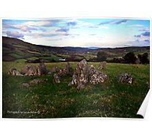 The Grave of the Warrior Poet, Lubitavish, Glenaan, County Antrim. Poster