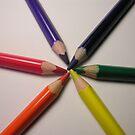 crayon colour wheel by Jodie  Davison