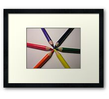 crayon colour wheel Framed Print