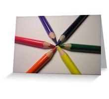 crayon colour wheel Greeting Card