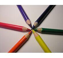 crayon colour wheel Photographic Print