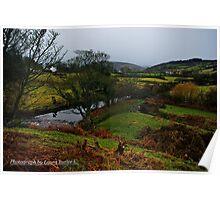 The Brown River at Cushendun, County Antrim. Poster